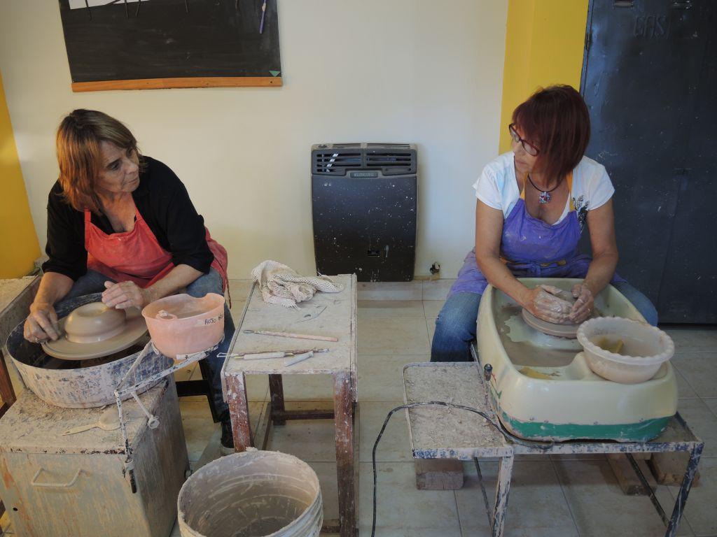 Alfareria en el BOLSON – taller CUARZO LIBRE de Marina SICOULY