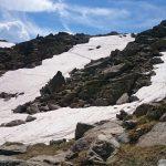Sentier difficile à cause de la neige