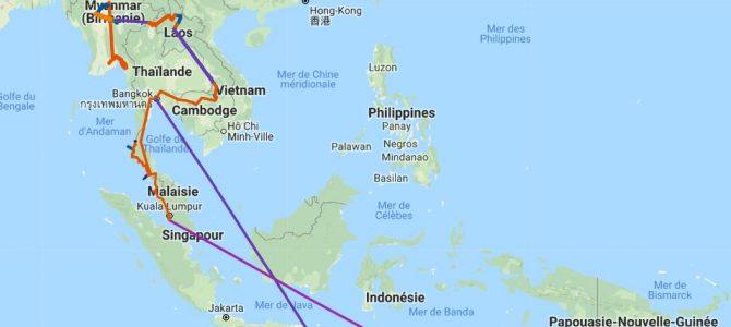 Périple de 4 mois en Asie du sud-est