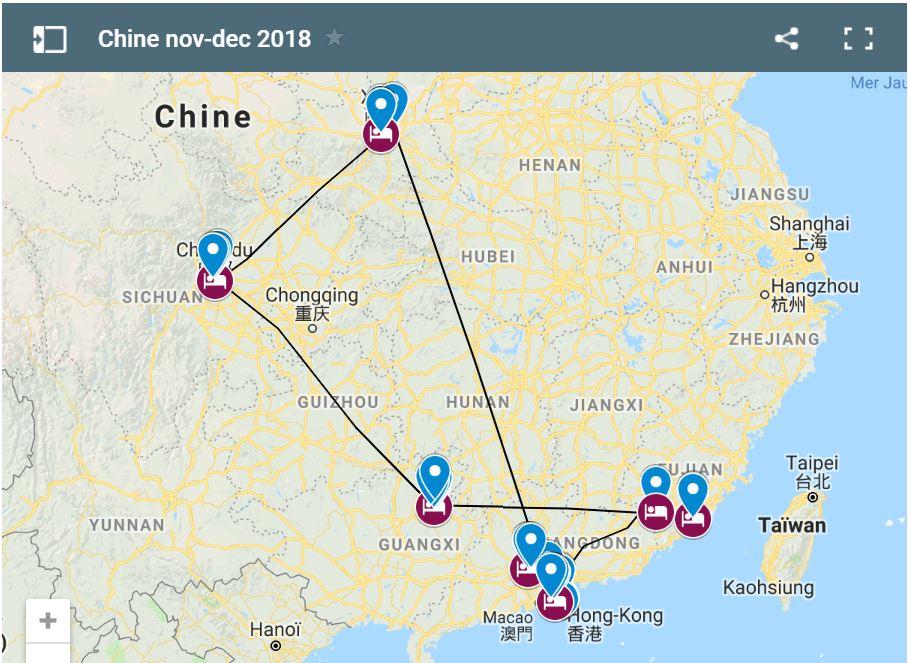 Carte Chine icone site